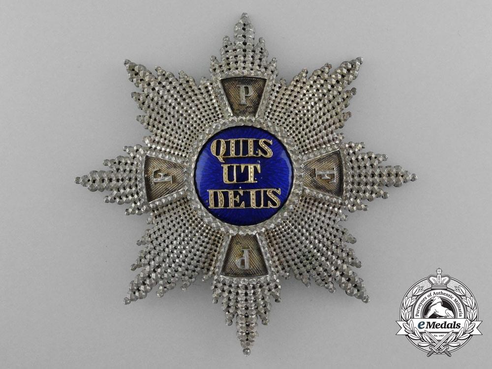 A Fine Quality Manufacture Royal Bavarian Merit Order of St. Michael; Grand Cross Star by Eduard Quellhorst