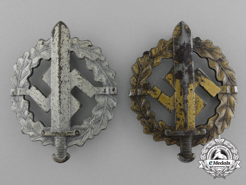 A Lot of Two SA Sports Badges by W. Redo