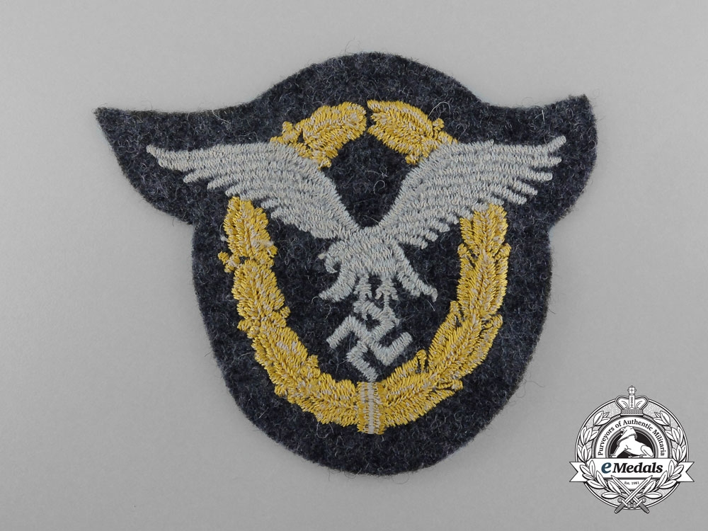 A Mint Luftwaffe Combined Pilot & Observer's Badge; Cloth Version