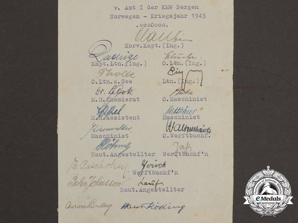 A Photo Album of  Kriegsmarine Destroyer Georg Thiele Belonging to Sailor Paul Königs