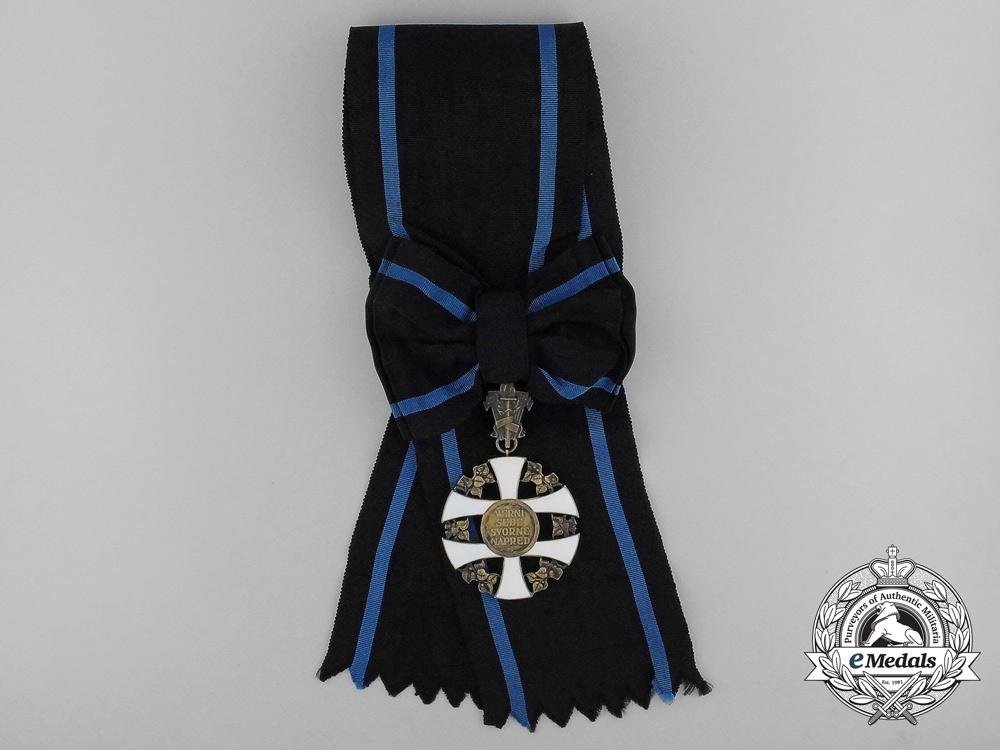An Order of the Slovakian Cross; Grand Cross Sash Badge