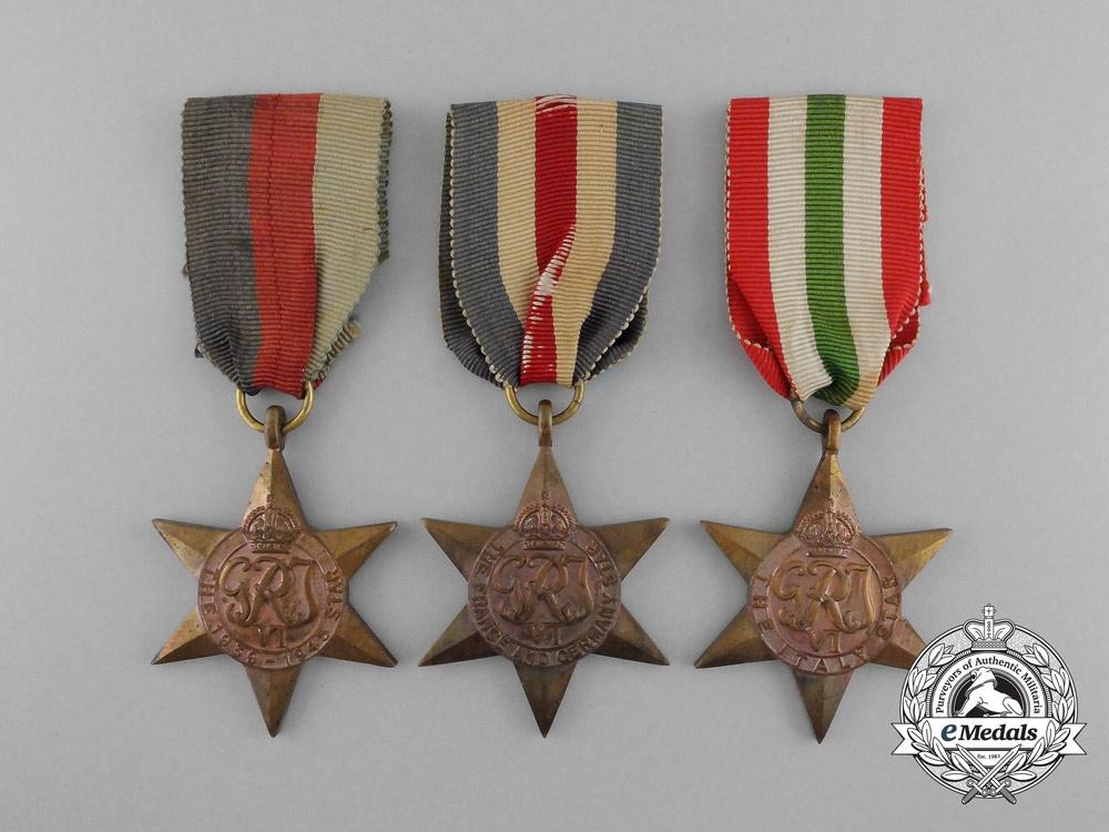 Three Second War Campaign Stars