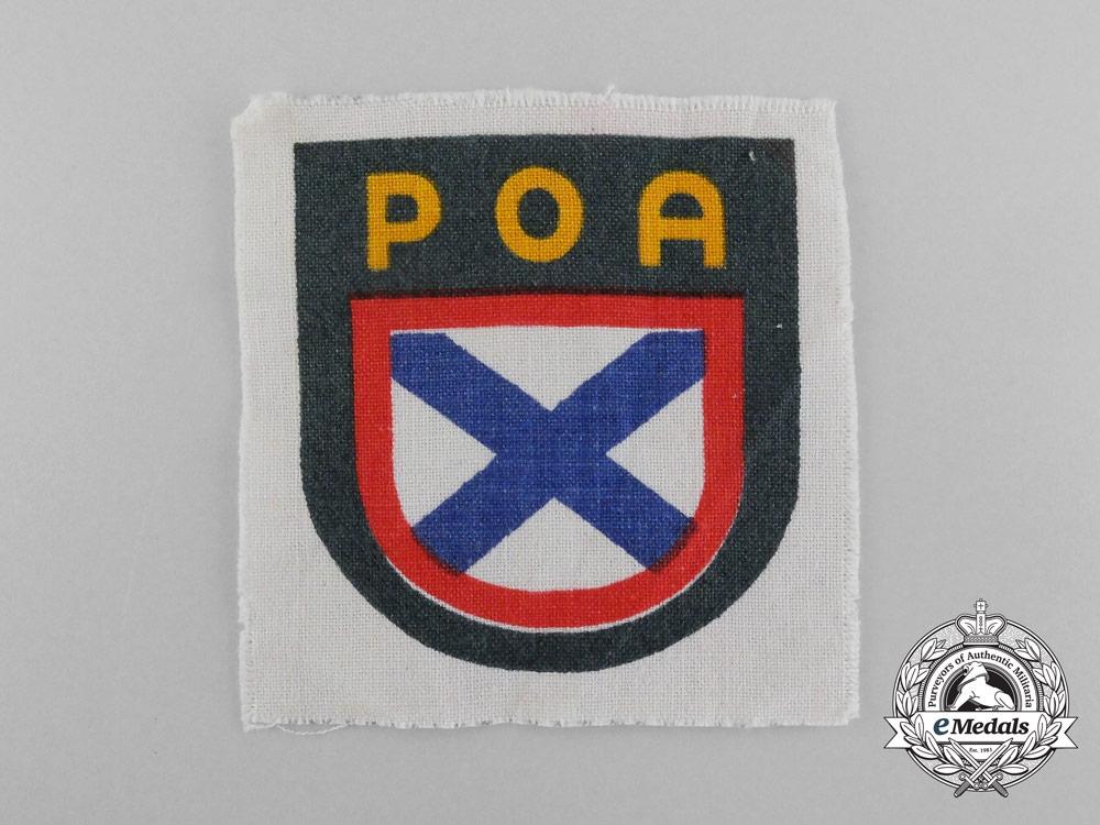 A Second War Russian Volunteer Army (POA) Insignia
