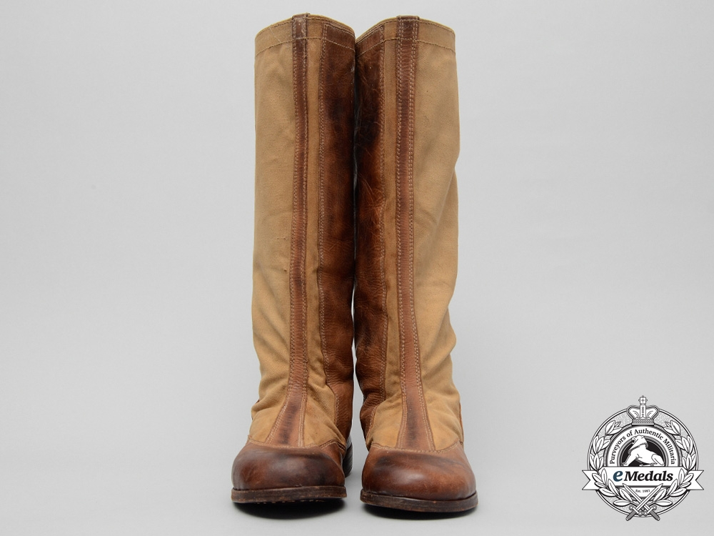 A Rare Pair of Waffen-SS Tropical Cavalry Riding Boots