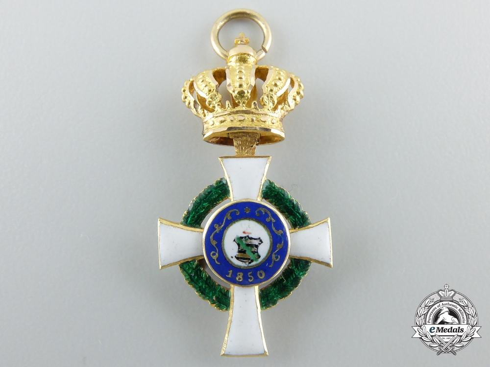 A Miniature Grand Commander Saxon Albrecht Order (1851-1876)