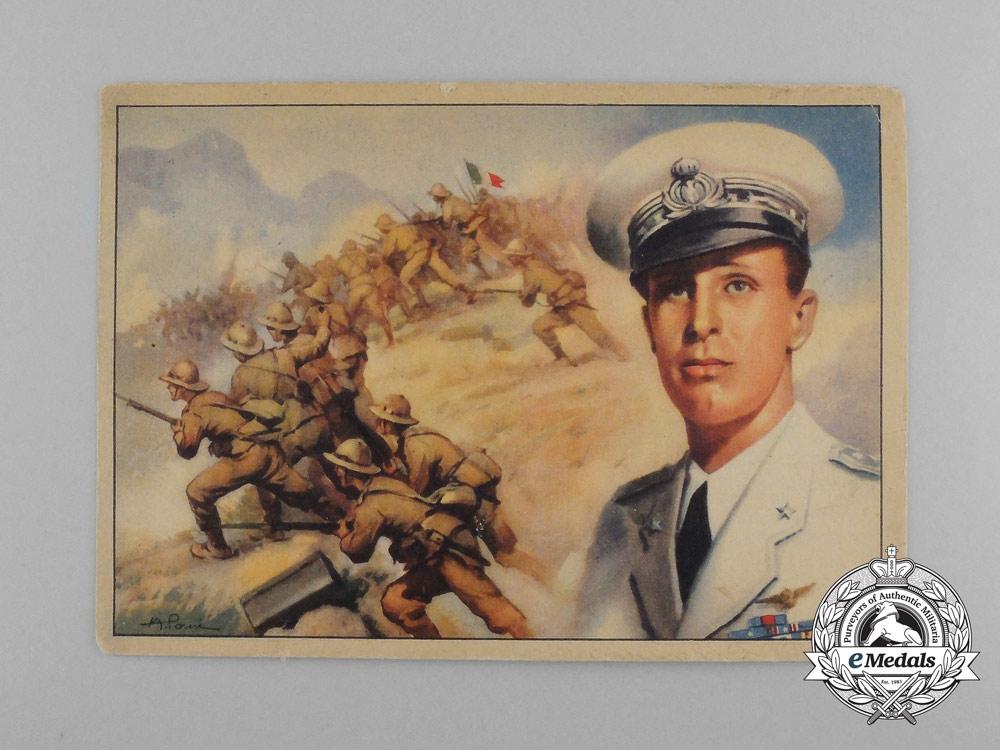 A Pair of Second War Italian Propaganda Postcards