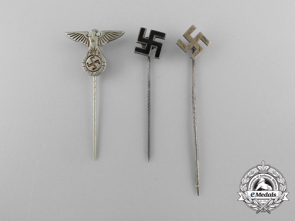 A Lot of Three NSDAP Supporters Stick Pins