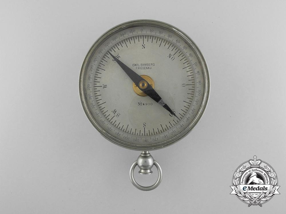 An Rare Imperial German Navy (Kaiserliche Marine) Compass by Carl Bamberg Friedenau