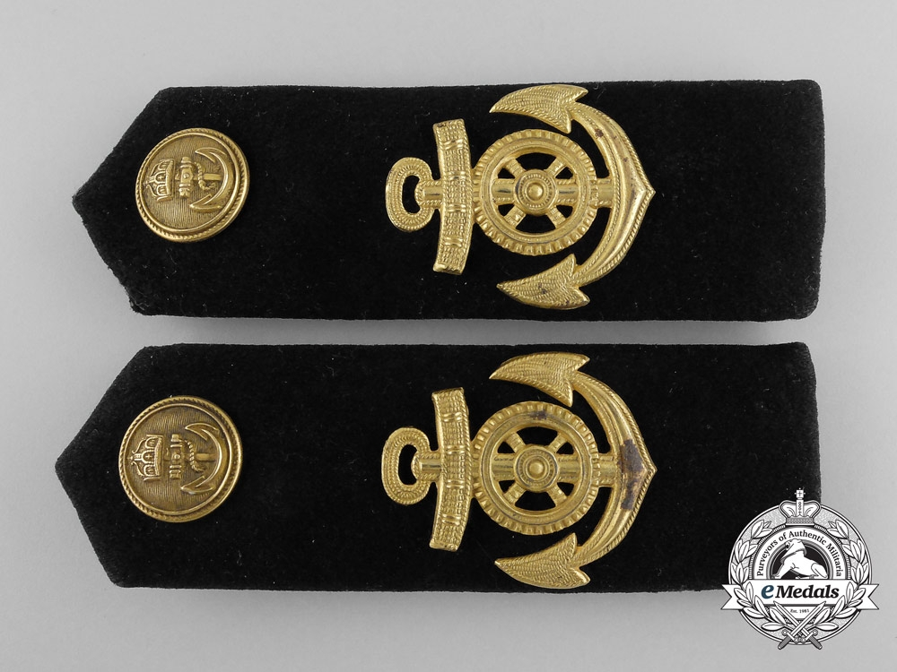 Germany, Imperial. A Navy (Kaiserliche Marine) Maschinistenmaat Shoulder Board Pair
