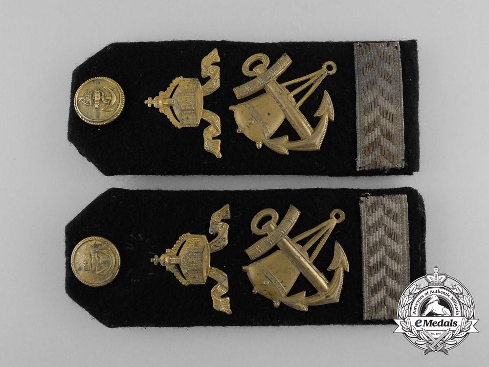 An Imperial German Navy (Kaiserliche Marine) Obertorpedermann Deck Offizer Shoulder Board Pair
