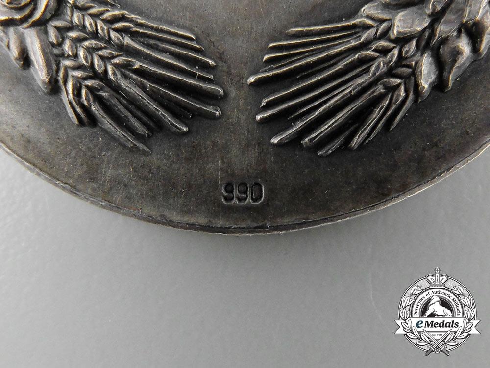 """A Very Fine 1936 Reichsnährstand Exhibition """"Tobacco"""" Award Badge"""