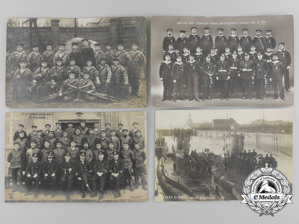 Germany, Imperial. Five Navy (Kaiserliche Marine) Postcards