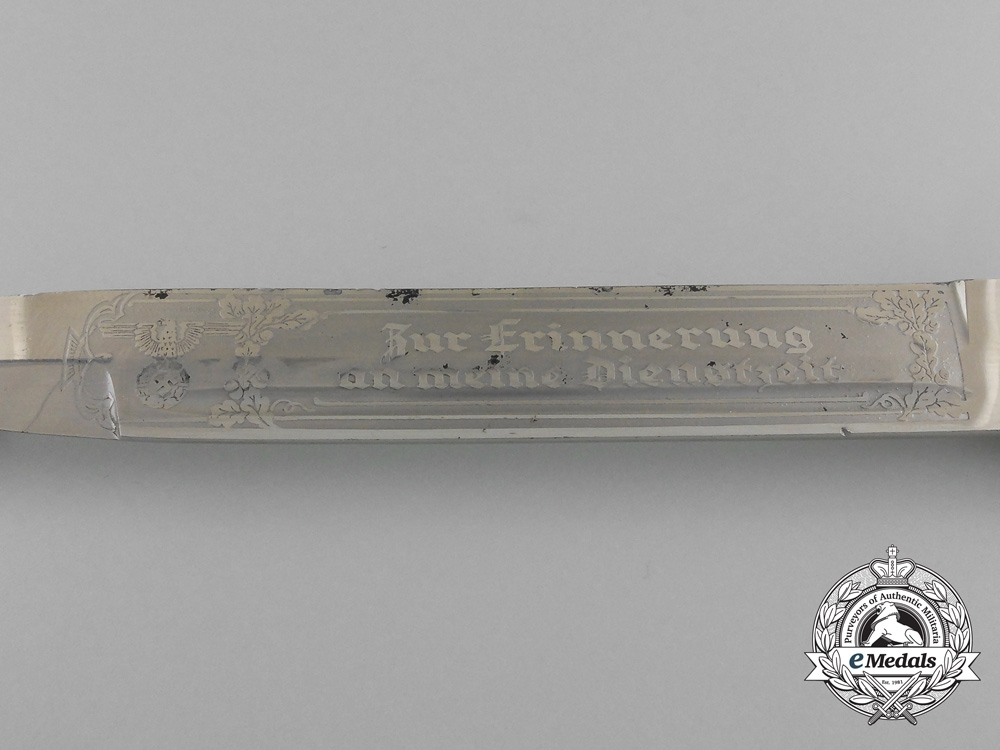 "A German Heer ""In Memory of My Service"" Etched Bayonet by E. & F. Horster & Co Gmbh, Solingen"