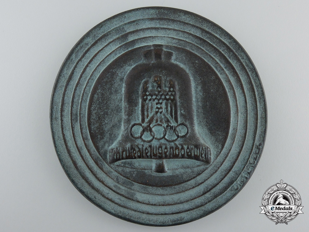 A XI Berlin Summer Olympic Games Participants Medal 1936 in Case