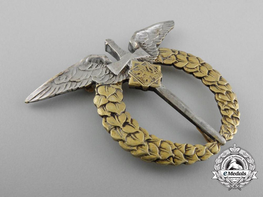 Czechoslovakia. An Air Force Air Observer Badge, c.1942