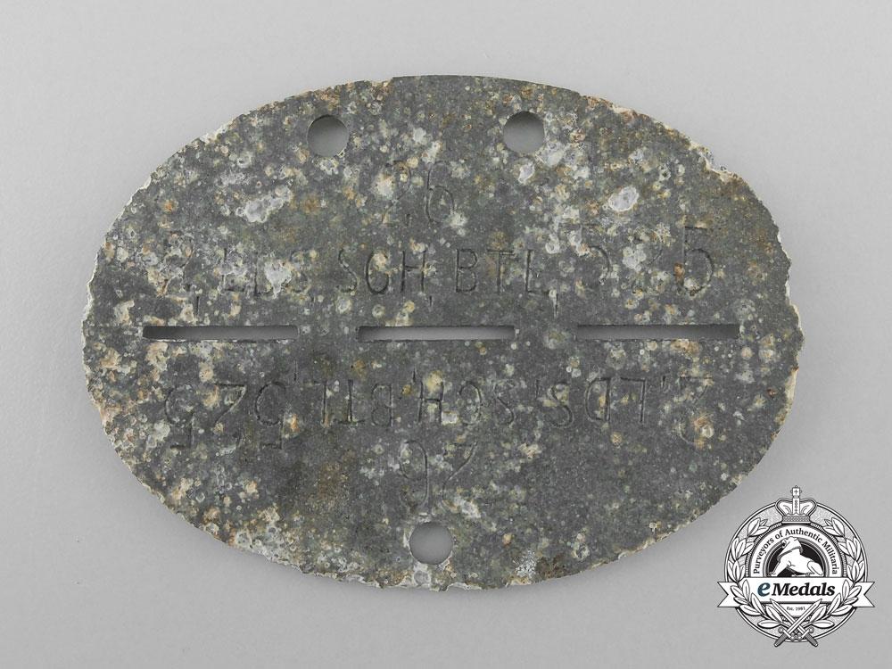 A Second War German 2nd Landeschützen Battalion 525 Identification Tag