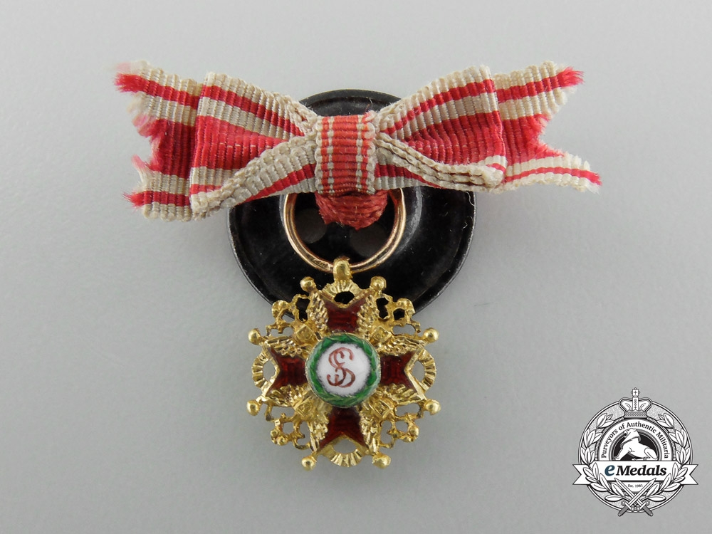 An Imperial Russian Miniature Order of St. Stanislaus