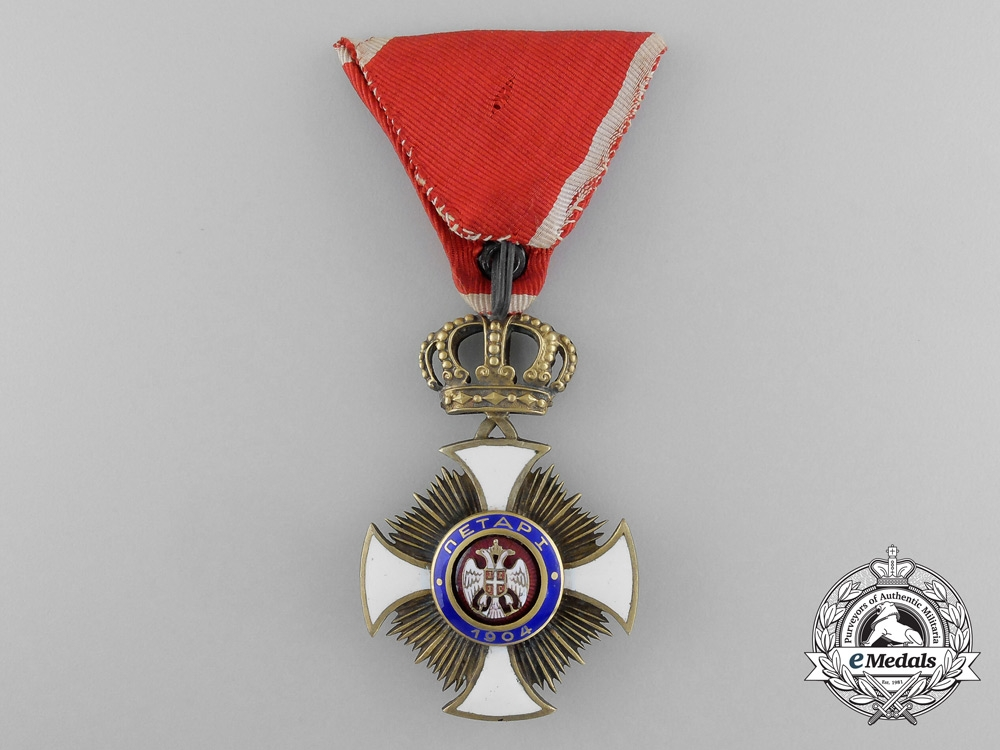 Serbia, Kingdom. An Order of the Star of Karageorge, IV Class Officer, c.1916