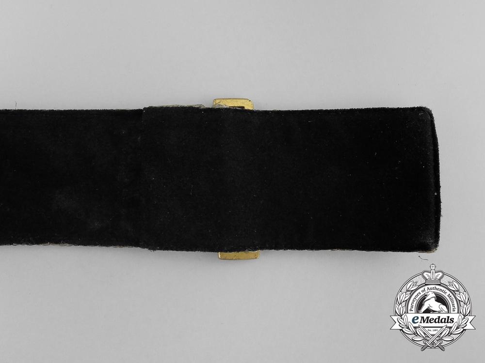 A Imperial German Navy (Kaiserliche Marine) Officer's Brocade Parade Belt