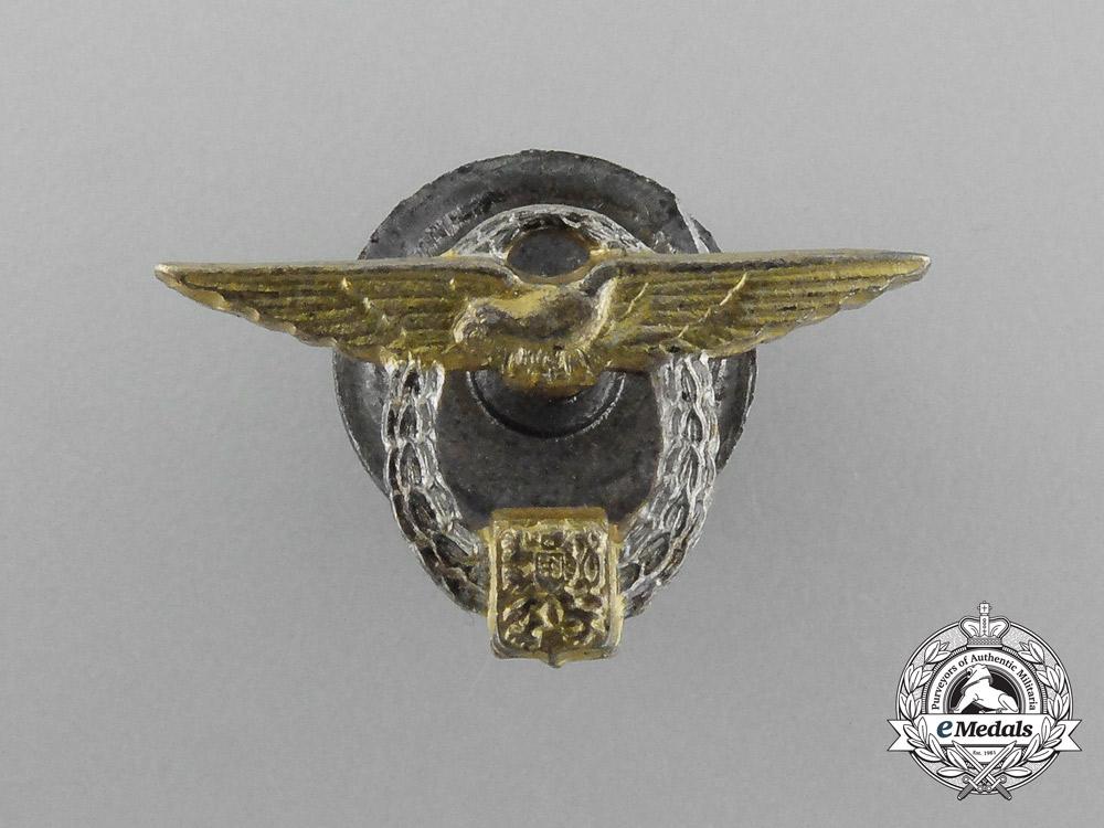 Czechoslovakia. A Flight School in England Graduate's Miniature Badge, c.1943