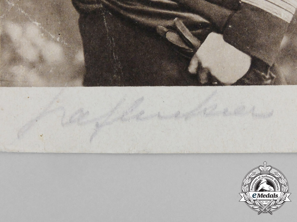 "A Signed Picture Postcard of  the ""Sea-Devil""; Corvette Captain Felix Graf von Luckner"