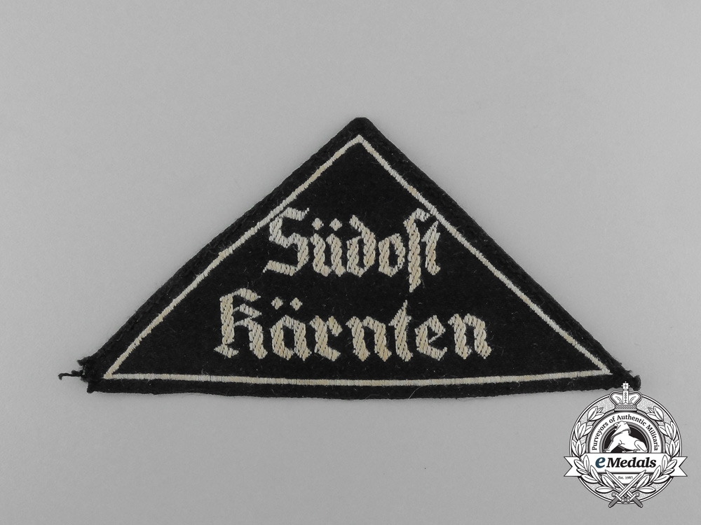 A Third Reich Period HJ/DJ South-East Carinthia Sleeve Patch