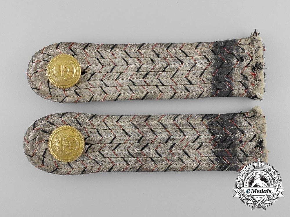 An Imperial German Navy (Kaiserliche Marine) Leutnant zur See Shoulder Board Pair