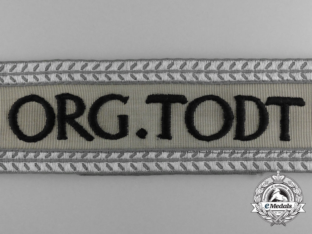 "An ""Organization Todt"" Leader's Cufftitle"