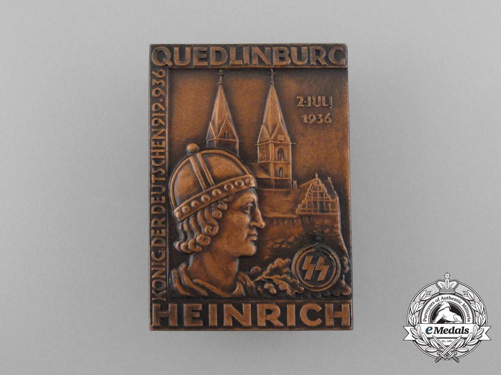 A 1936 SS Heinrich King of the Germans Quedlinburg Badge