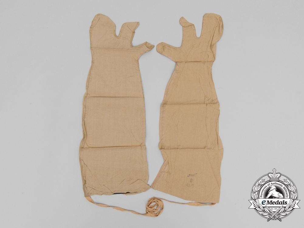 A Pair of Chemical Warfare Protective Gloves for the Light Protective Suit; Model M1939