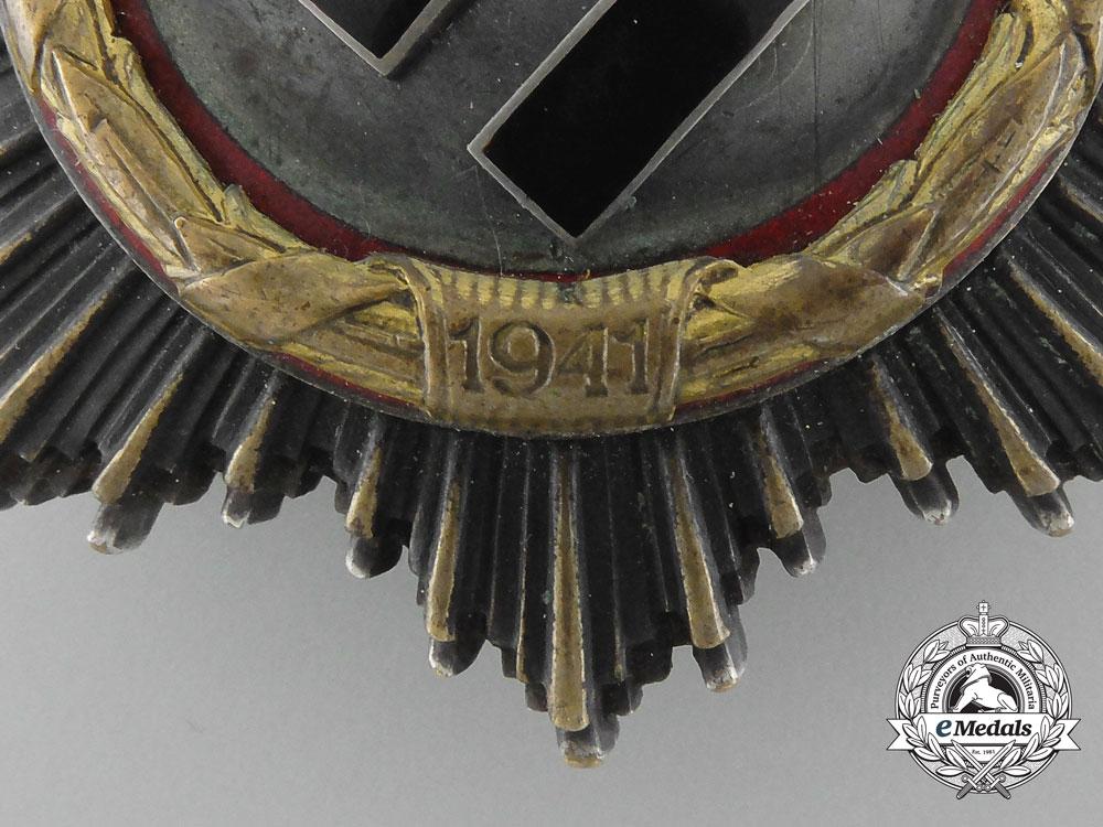 "A German Cross in Gold by Deschler & Sohn, marked ""1"""