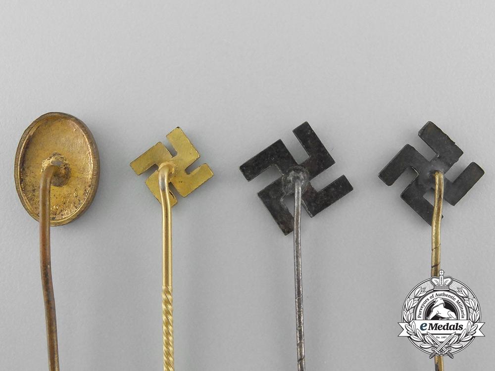 Four Second War Period NSDAP Supporter Pins