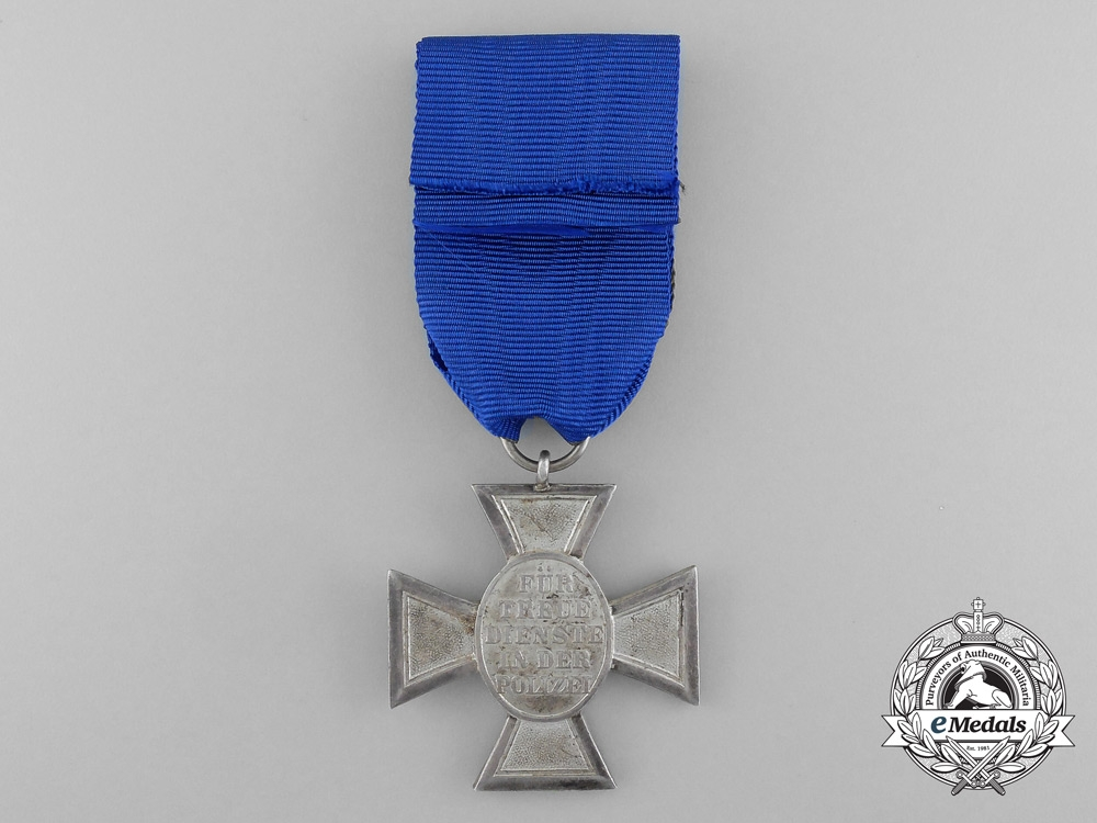A German Police 18 Year Long Service Cross; Second Class