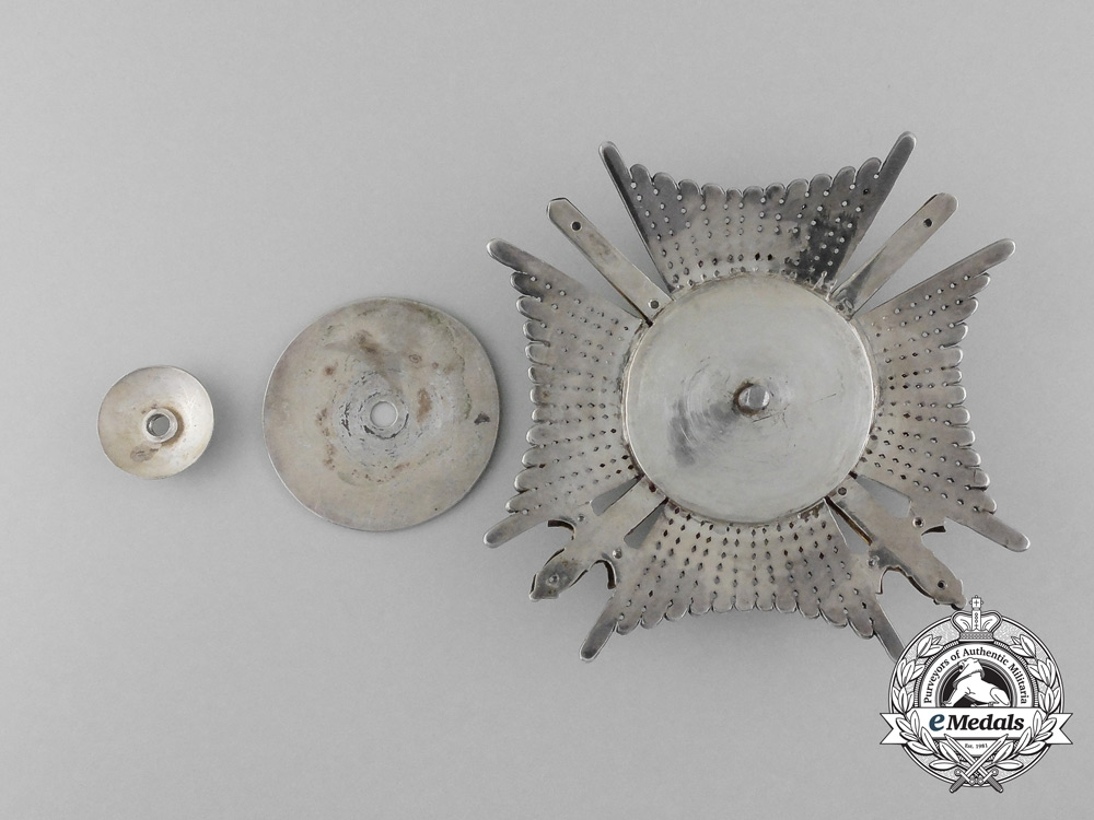 A Saxe-Ernestine House Order; Commander's Star with Swords