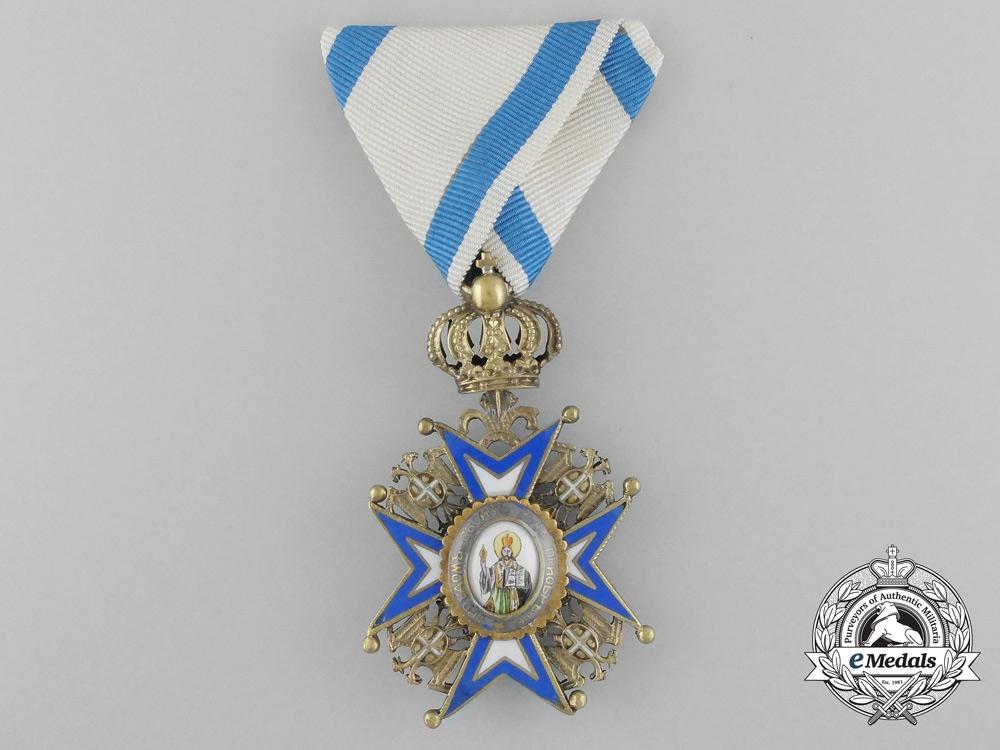 A Serbian/Royal Yugoslav Order of St. Sava 1921-1941, 4th Class, Cased