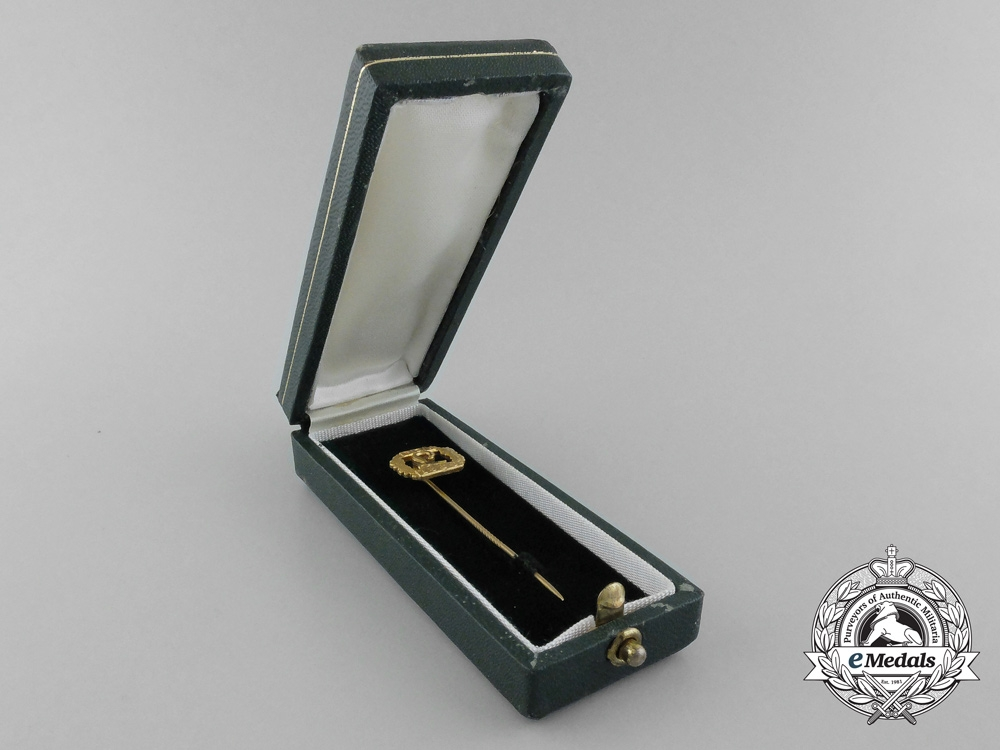 A Mint National Socialist League of the Reich for Physical Exercise Golden Honour Badge in its Original Case of Issue