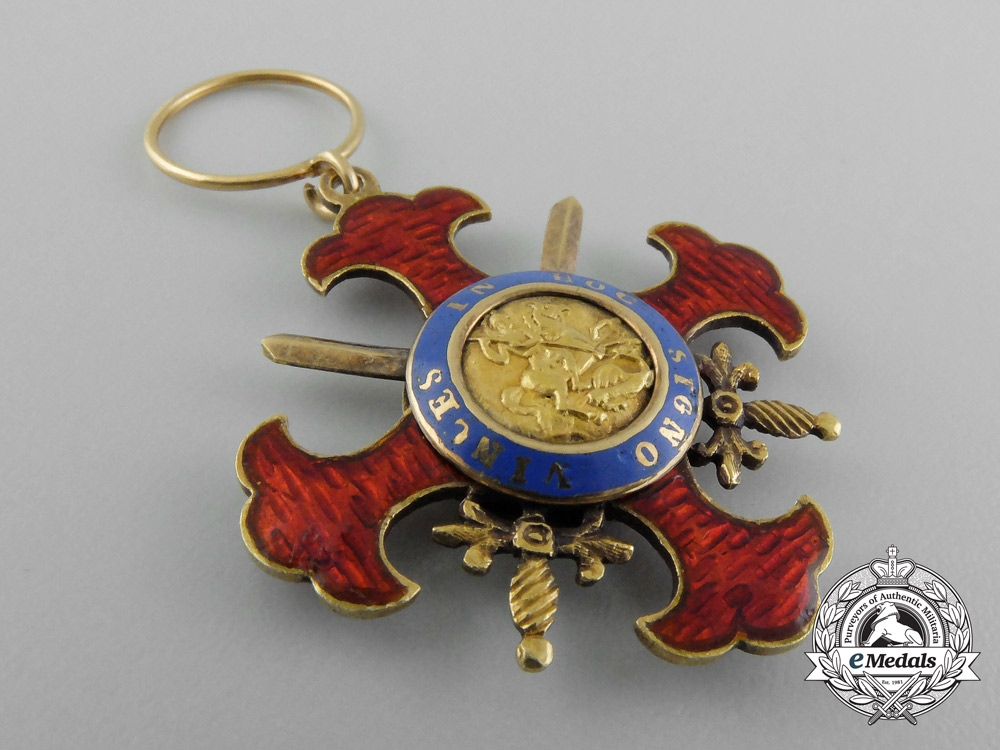 Italy, Kingdom of the Two Sicilies. A Royal Military Order of St. George of the Reunion, c.1819