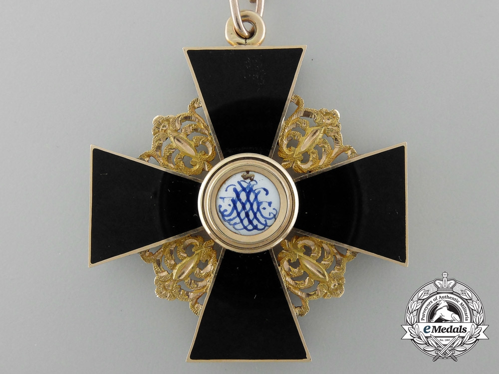 An Early Russian Order of St. Anne; Second Class in Gold Circa. 1860