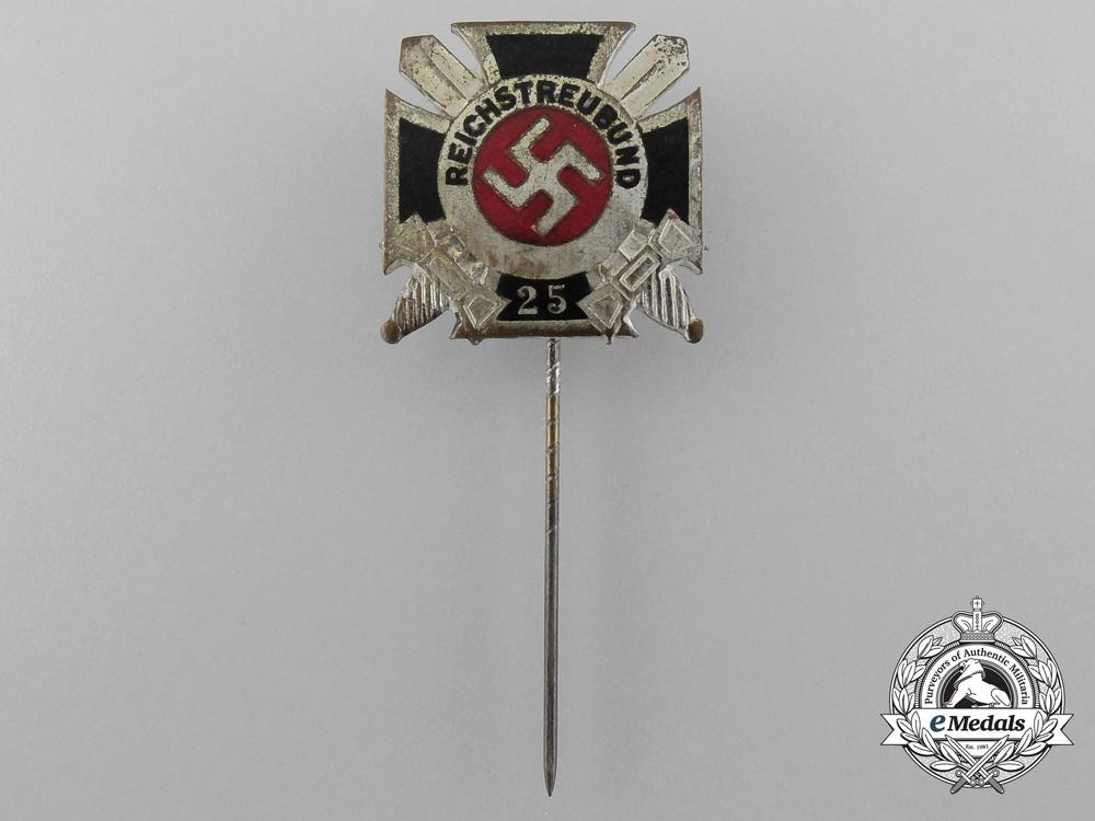 A Reichstreuebund of Former Soldiers 25-Year Membership Stick Pin