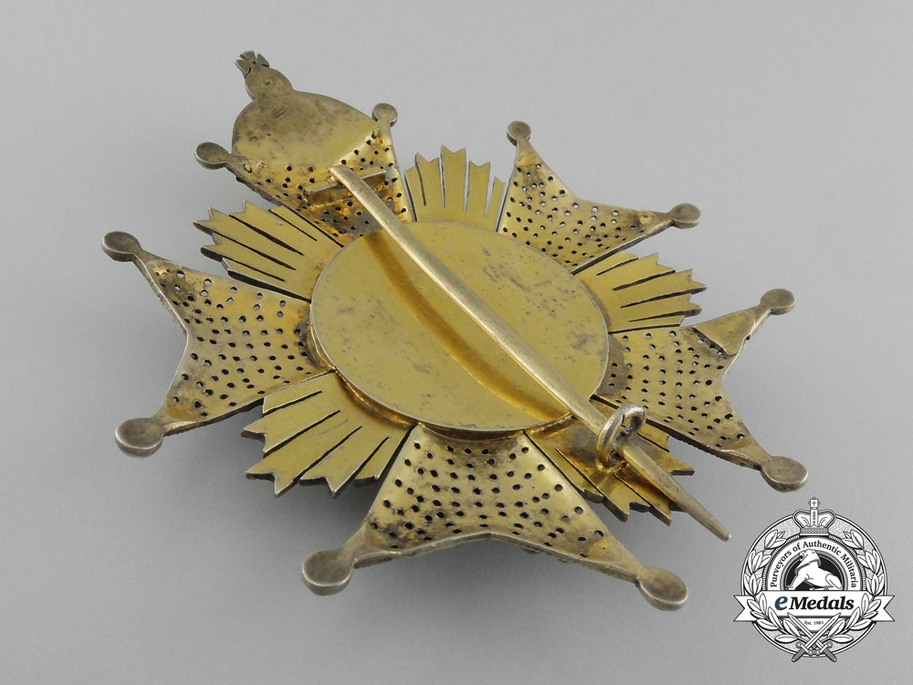 A Brazilian Imperial Order of the Southern Cross, Grand Officer Set, Type I (1822-1890), French Manufactured, Attributed to Count Gustav Heinrich Gottlieb von Braun
