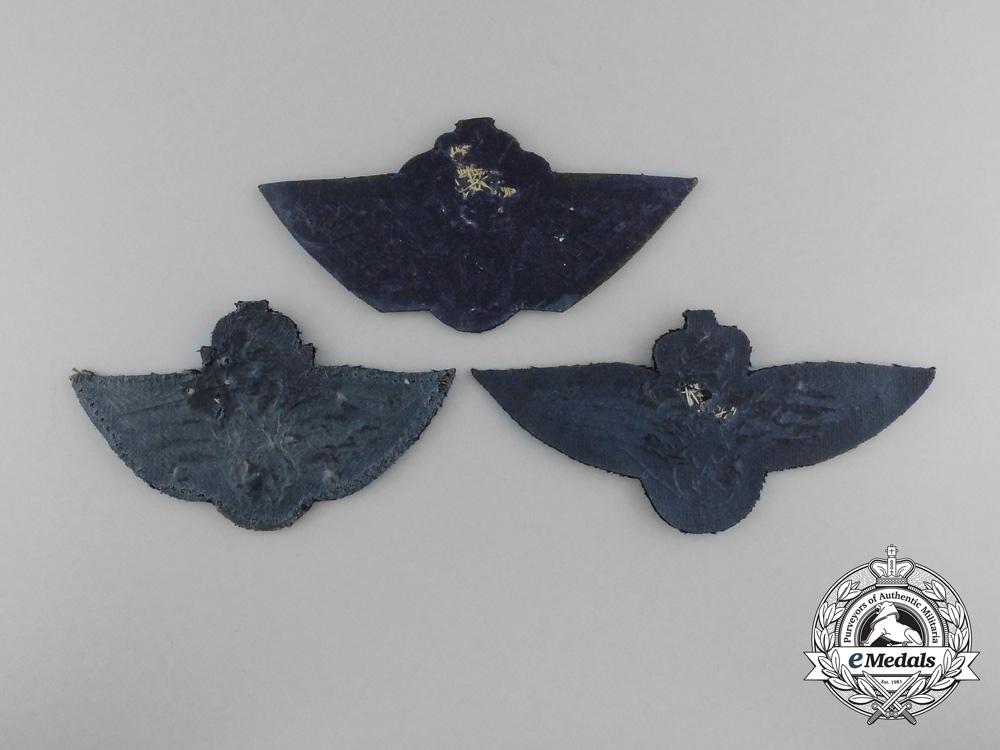 Three Royal Norwegian Air Force Badges