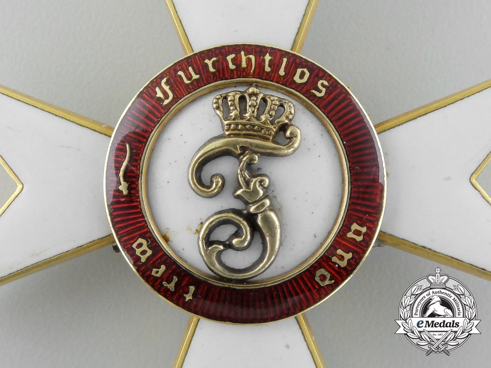 Württemberg. An Order of the Crown in Gold, 1st Class Commander, by Eduard Foehr, c.1915