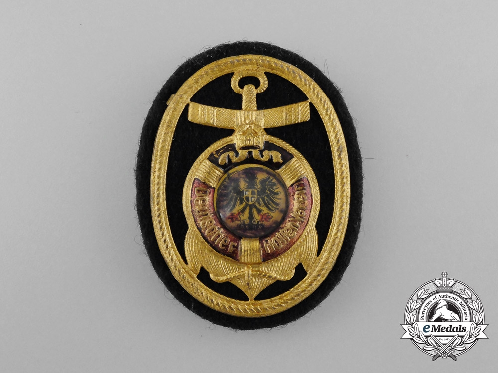 A First War Period German Navy League Cap Badge