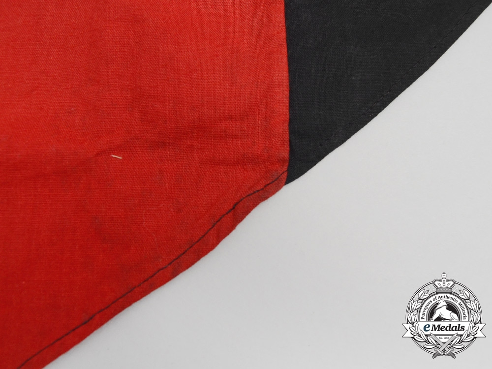 A Second War Period Spanish Falange Swallow Tailed Banner