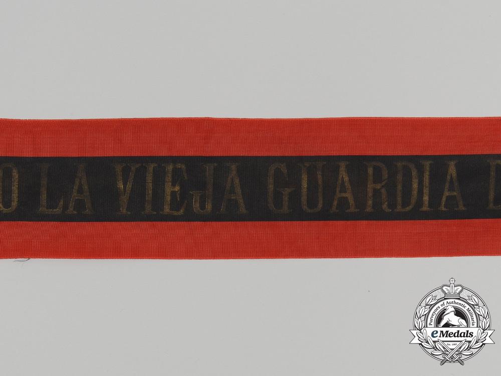 Spain, Fascist State. A José Antonio Old Guard of Murcia Falange Sash