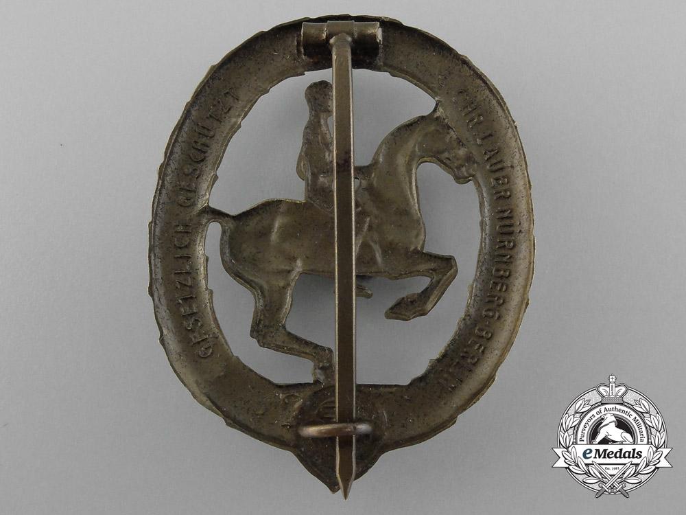 A Bronze Grade German Horseman's Badge by L. Christian Lauer