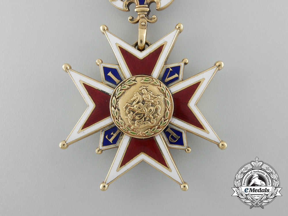 A Most Rare Bavarian Military House Order of St. George in Gold