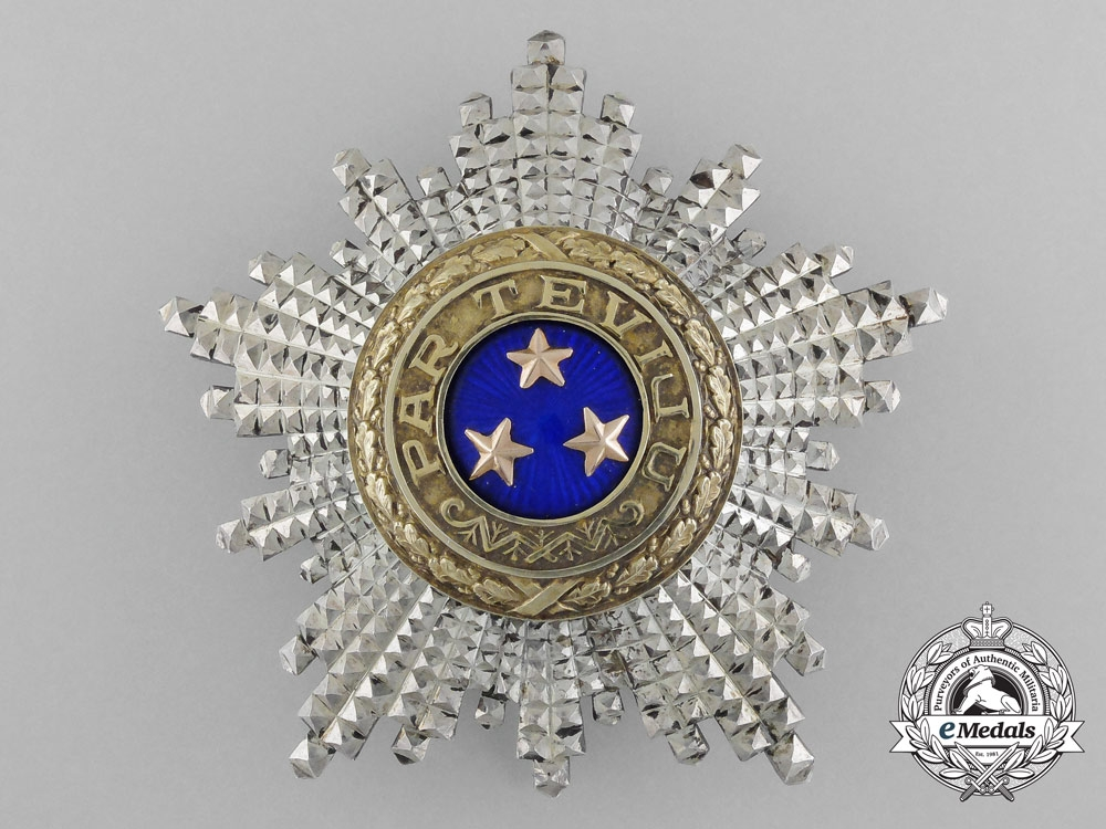 A Latvian Order of the Three Stars; Breast Star by  W.F. Müller