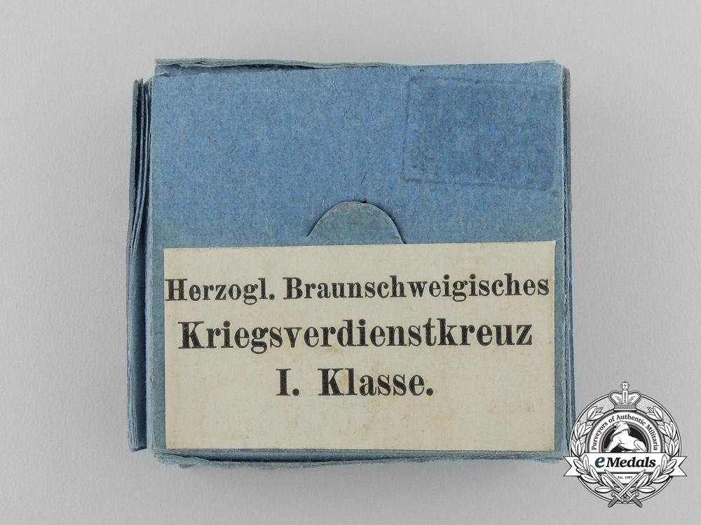 A 1914 Brunswick War Merit Cross; 1st Class with Rare Original Carton