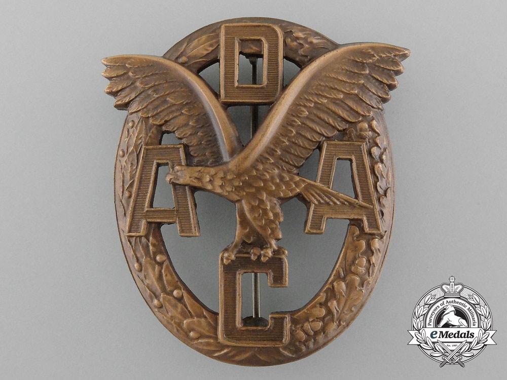 An ADAC Motor Sports Badge; Silver Grade by Wiedmann in Original Case of Issue